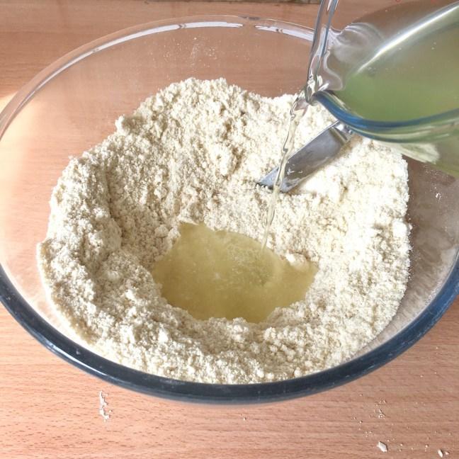Making scones using whey