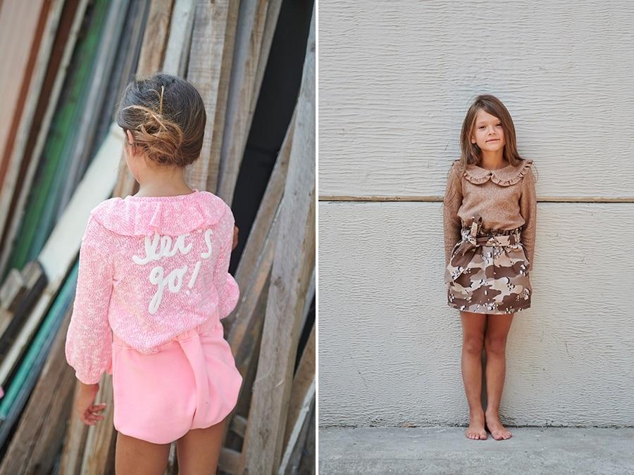Sweatshirt Farfallw and Skirt Safari