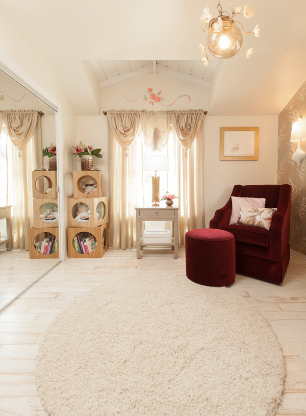 gold and neutral nursery
