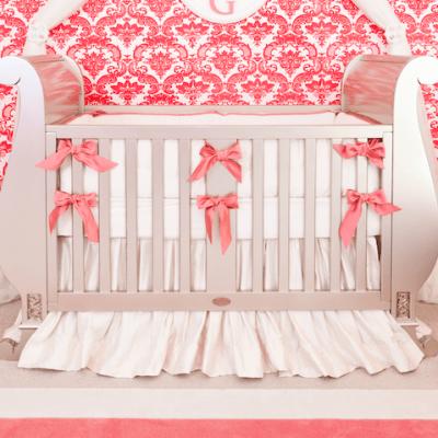 Custom Silk Crib Bedding