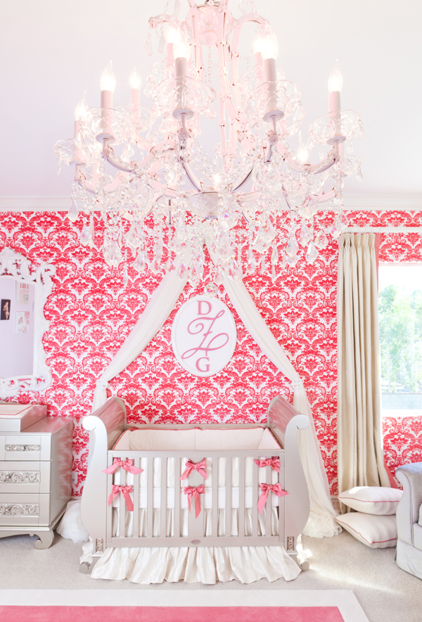 coral and silver nursery