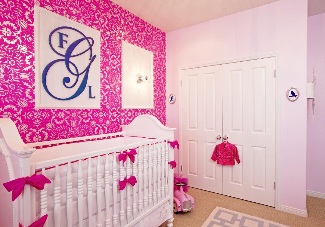 hot pink girl's nursery
