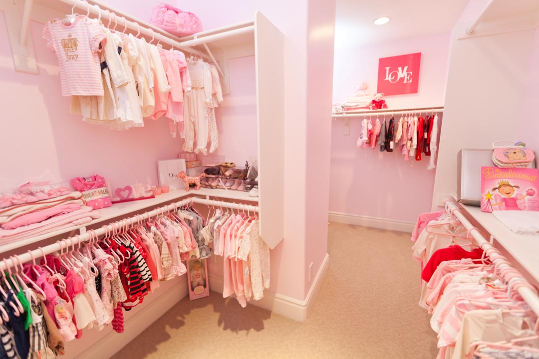 pink nursery closet