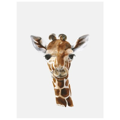 baby giraffe art canvas