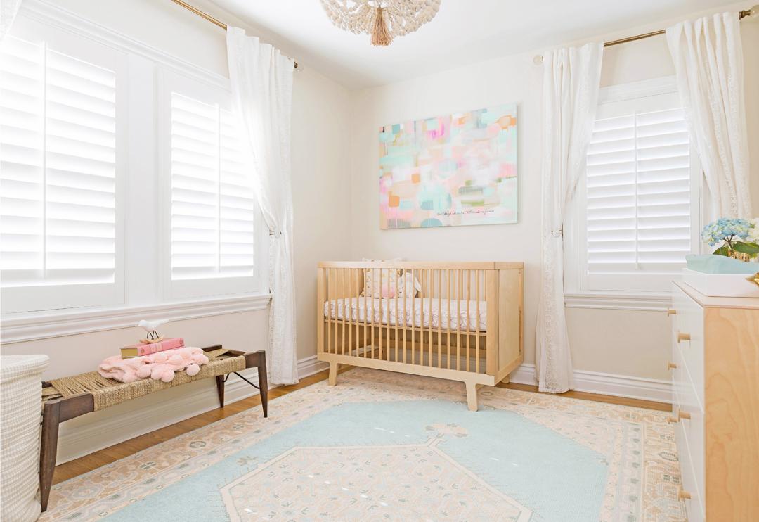 Feminine Pastel Nursery by Little Crown Interiors