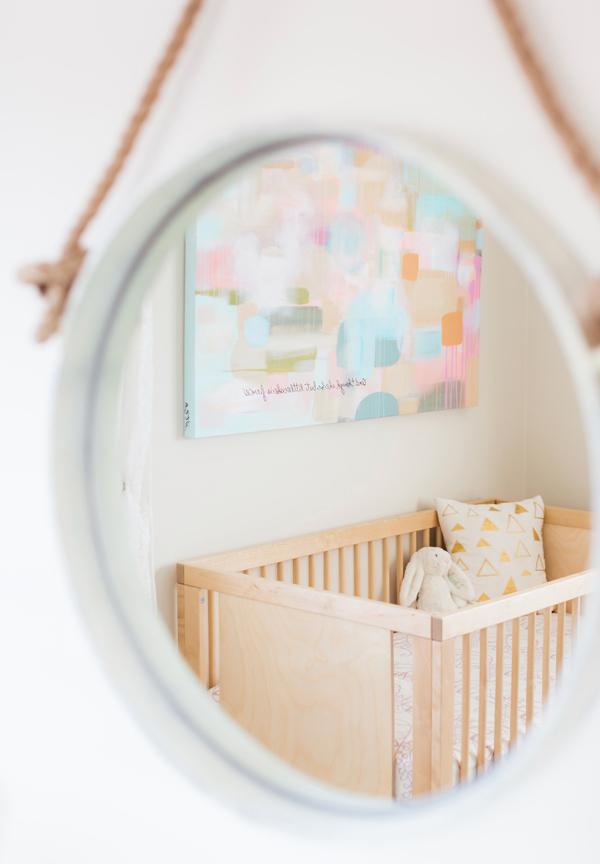 Nursery Wall Mirror | Little Crown Interiors