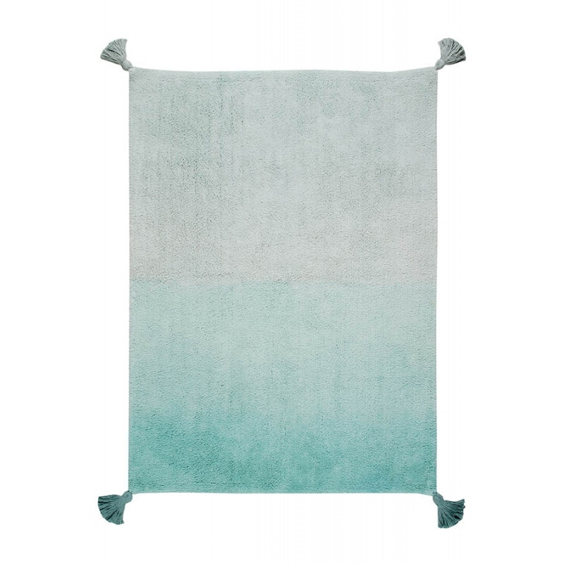 Washable Ombre Rug   Mint Green