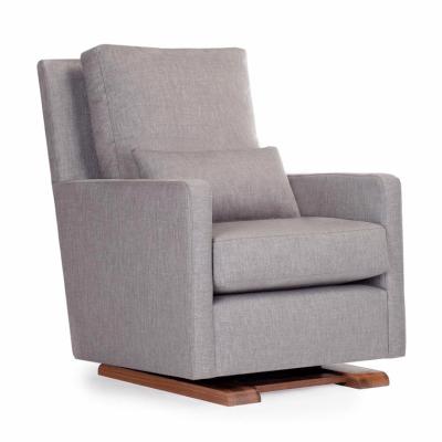 modern gray nursery glider chair