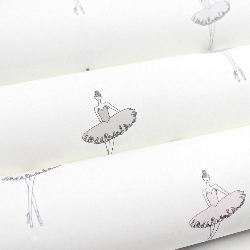 Nursery Ballerina Wallpaper   Little Crown Interiors Shop