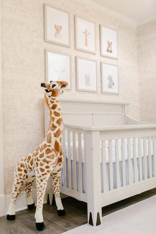Neutral Safari Wallpaper Nursery