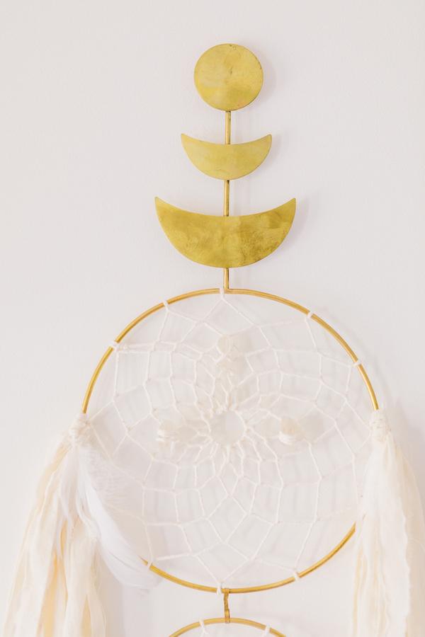Gold Dreamcatcher Wall Hanging | Little Crown Interiors