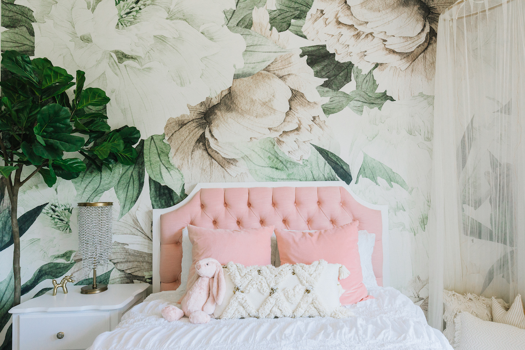 Large Floral Wall Mural | Little Crown Interiors