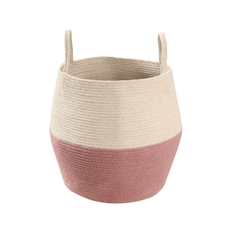 Cotton Storage Basket in Rose and Neutral