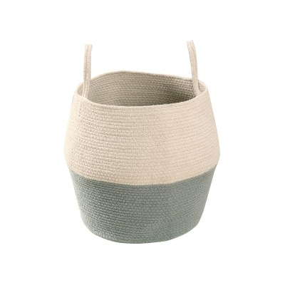 Cotton Storage Basket in Blue and Neutral