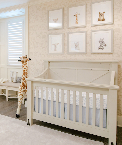 Neutral Safari Nursery Design by Little Crown Interiors