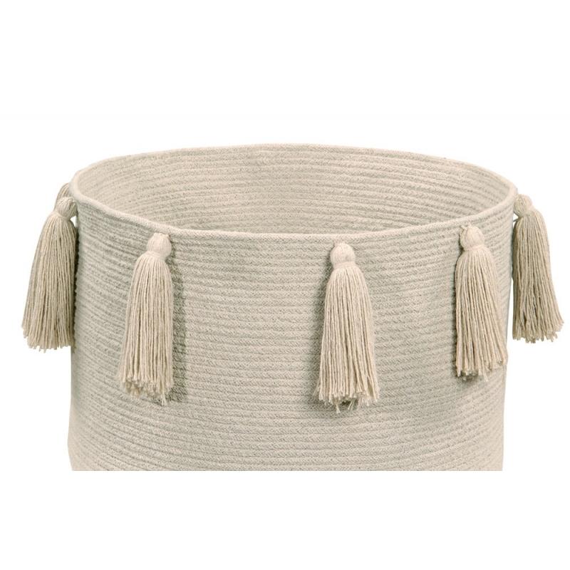 Natural Tassels Storage Basket
