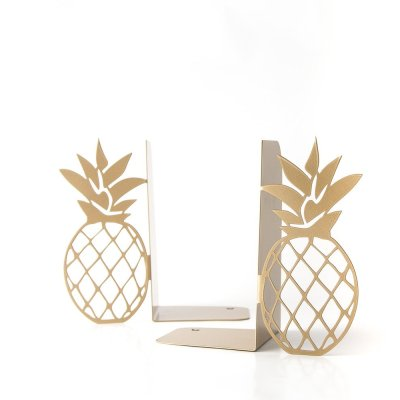 Gold Metallic Pineapple Bookends