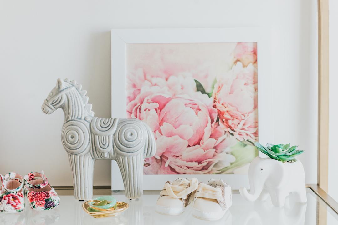 Floral Nursery Artwork | Little Crown Interiors