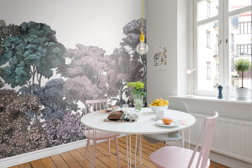 Rainbow Forest Wall Mural | Little Crown Interiors Shop