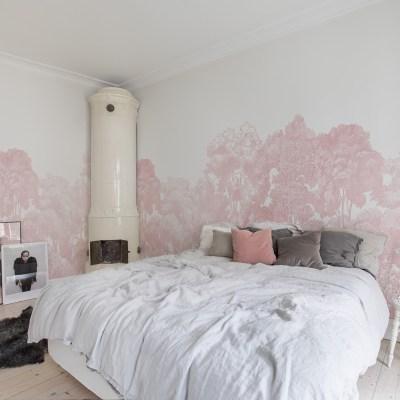 Pink Forest Wallpaper | Little Crown Interiors