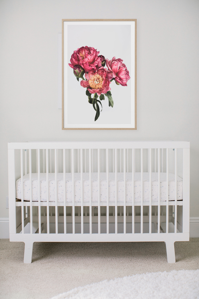 Bright Pink Peonies Print | Little Crown Interiors Shop