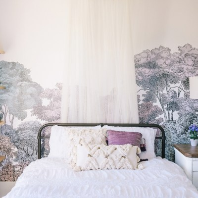 Lavender Girl's Bedroom by Little Crown Interiors