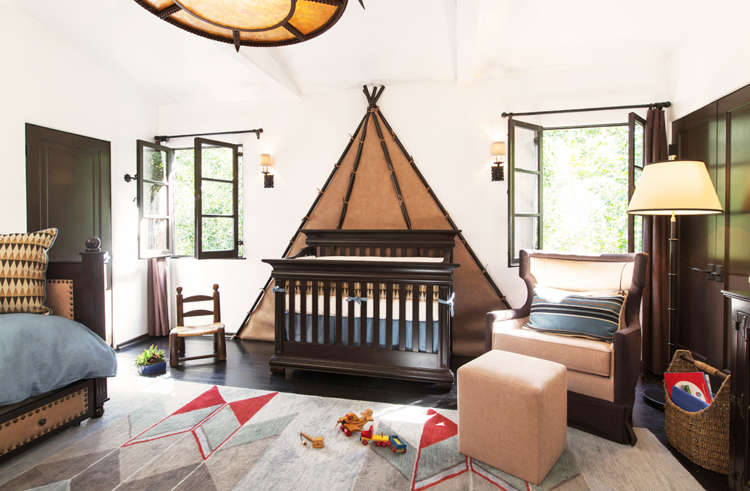 Rustic boy's nursery design