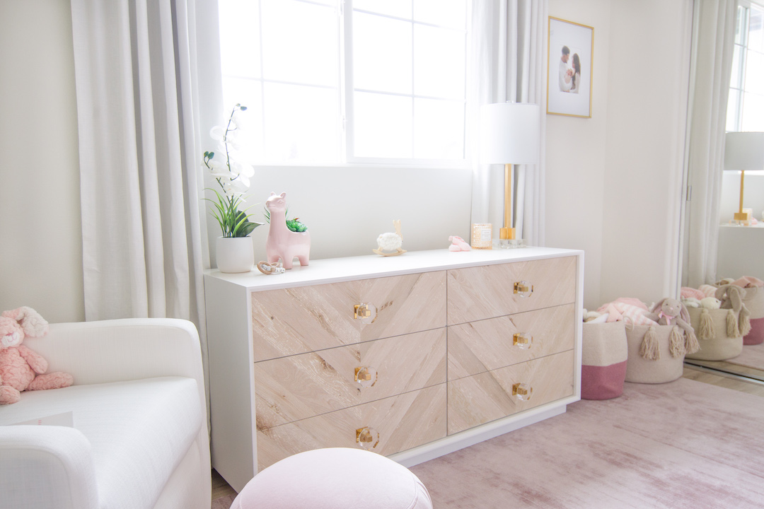 Modern Blush Nursery by Little Crown Interiors