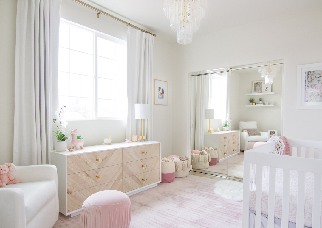 White & Blush Nursery by Little Crown Interiors