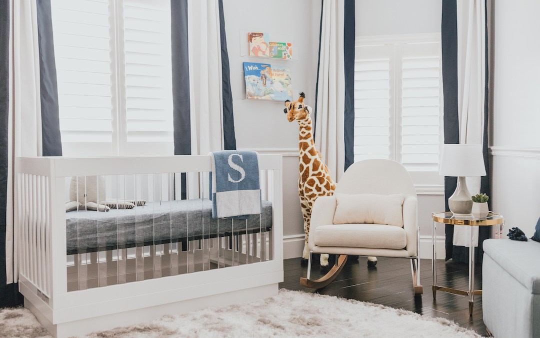 Design Reveal:  A Modern Boy's Navy Nursery in Los Angeles