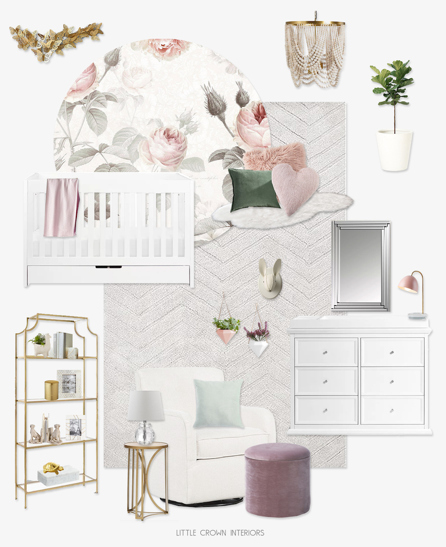 Floral Nursery Get The Look by Little Crown Interiors