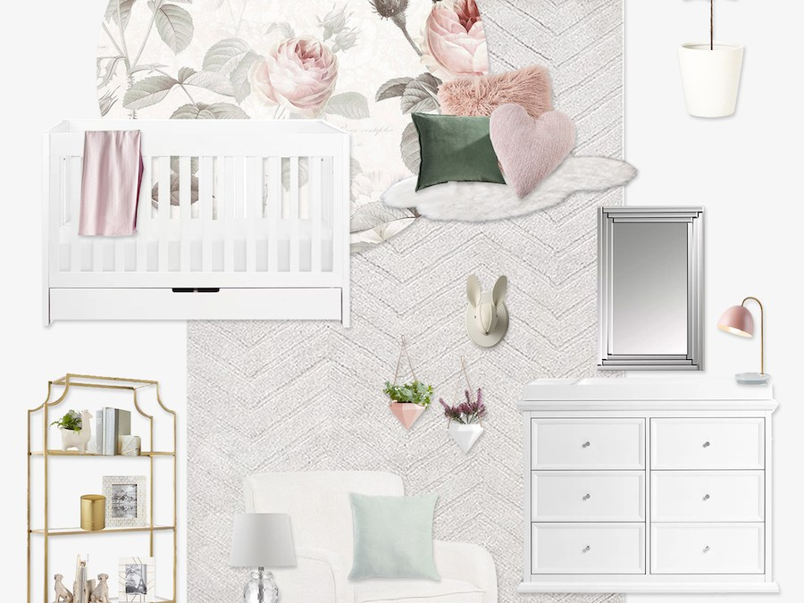 Get the Look: Recreating This Girl's Floral Nursery