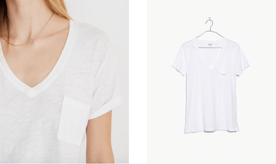 The perfect white t shirt