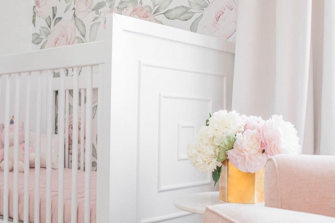 Modern White Nursery Crib