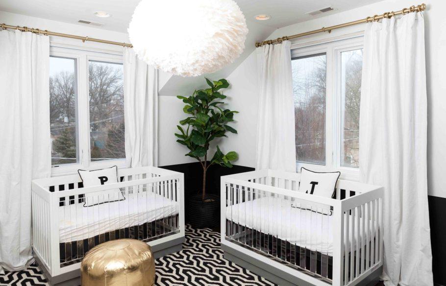 Black and white nursery design by Amelia Canham Eaton