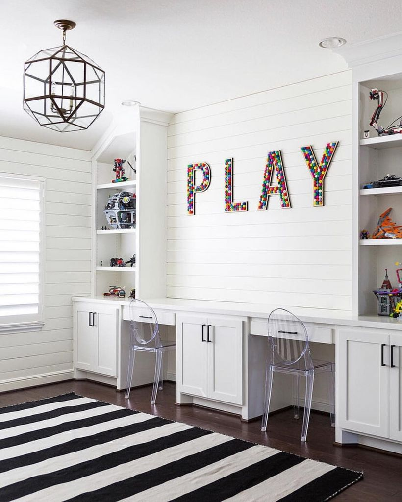 Modern playroom with acrylic accents