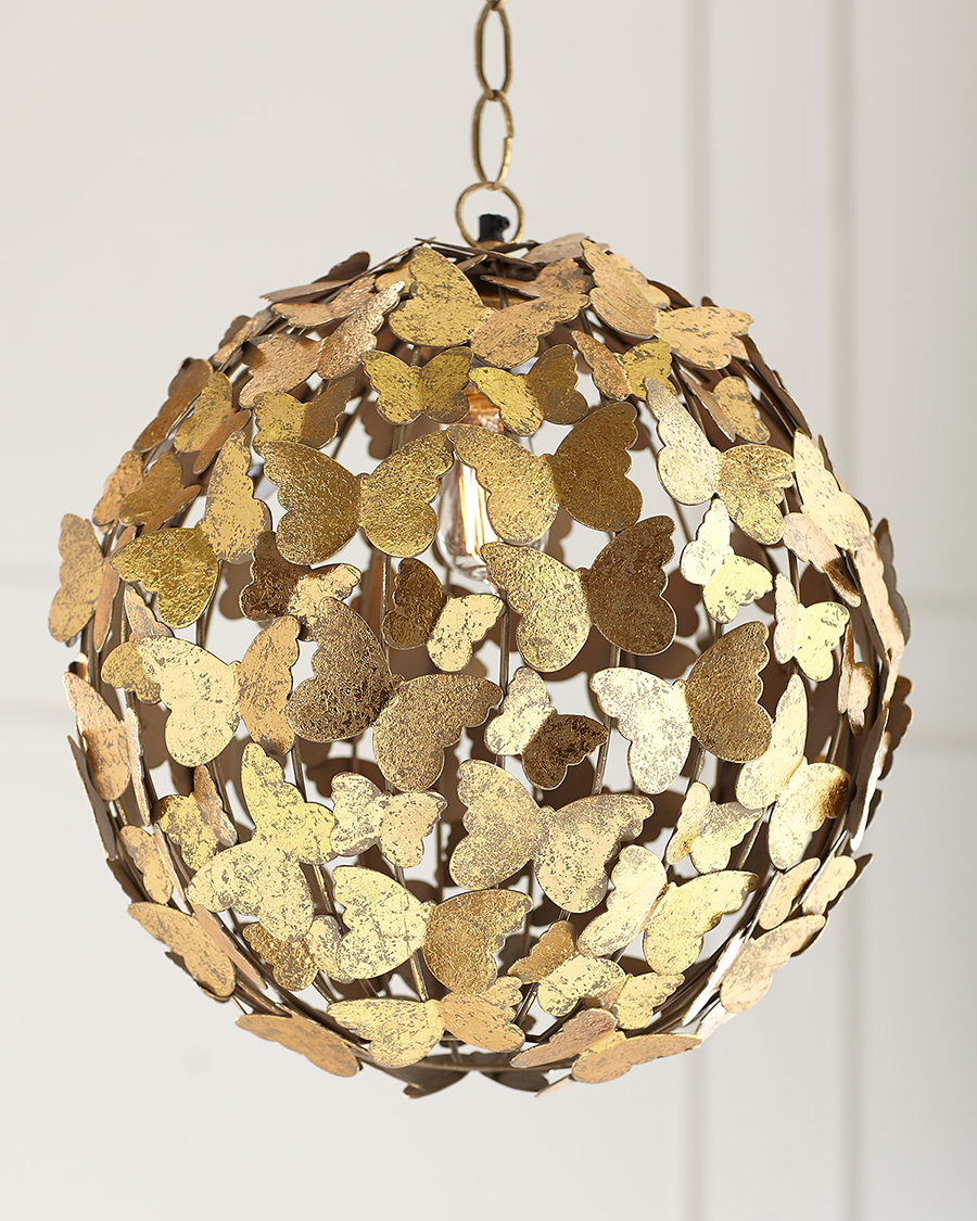 Gold Butterfly Chandelier
