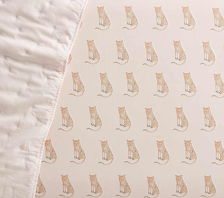 Leopard Crib Sheet