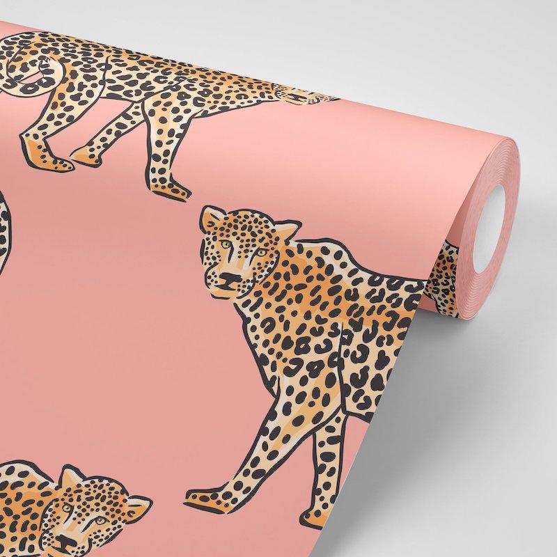 Leopard Pink Wallpaper