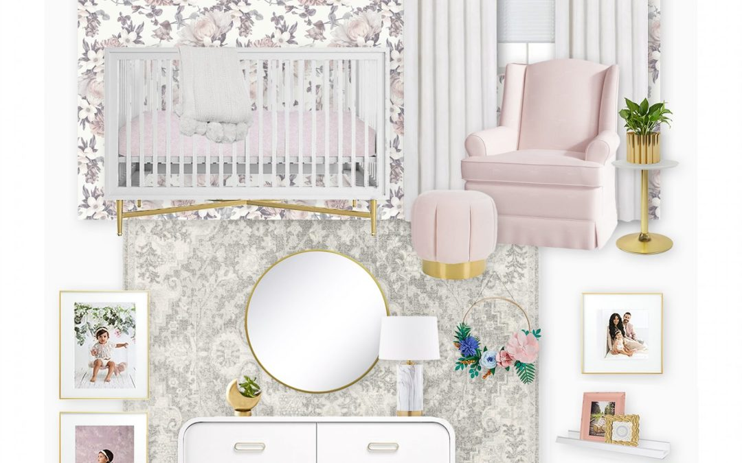 Get the Look: Recreating a Blush Floral Nursery