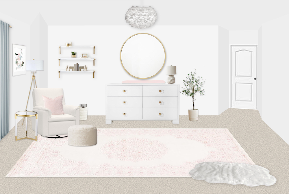 Pink Girl's Nursery Design by Little Crown Interiors