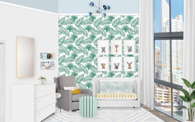 A Miami Inspired Palm Nursery E-Design Reveal