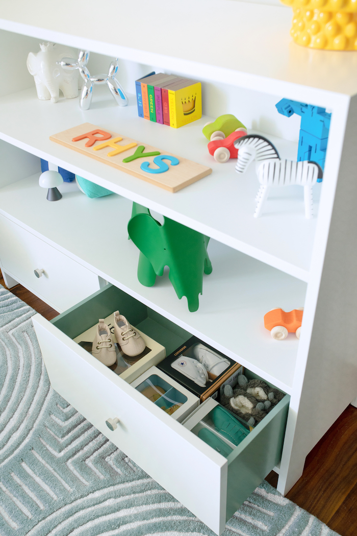 Colorful Safari Nursery Design by Little Crown Interiors