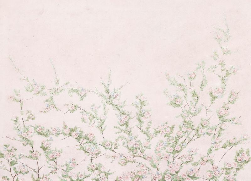 Pink Floral Vines Wall Mural