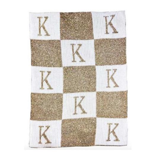 Custom Initial Letter Baby Blanket
