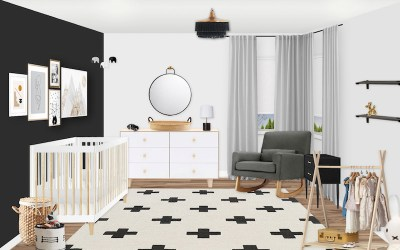 Sneak Peek: A Black and White Scandinavian Nursery