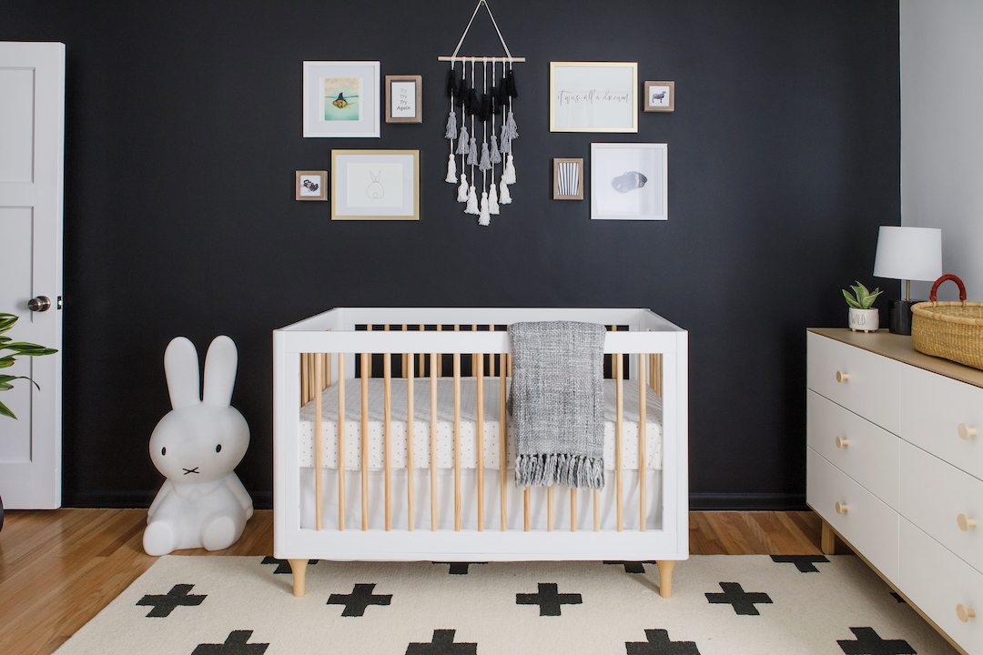 Black and White Nursery Design by Little Crown Interiors