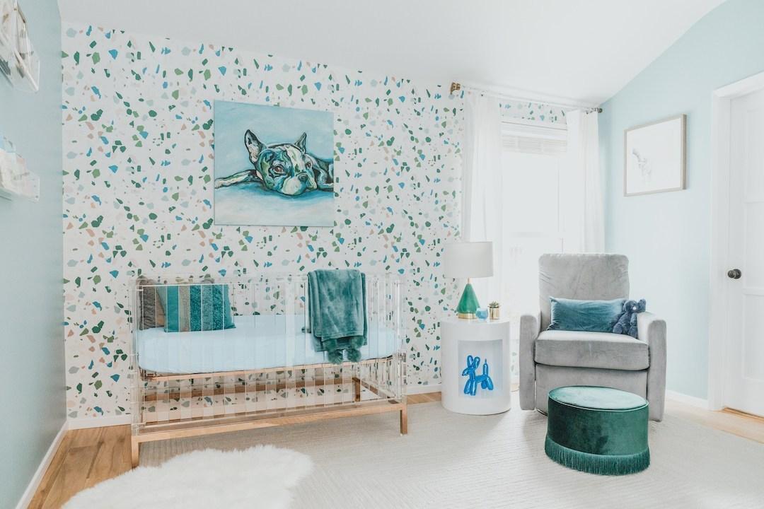 Modern Terrazzo Nursery Design