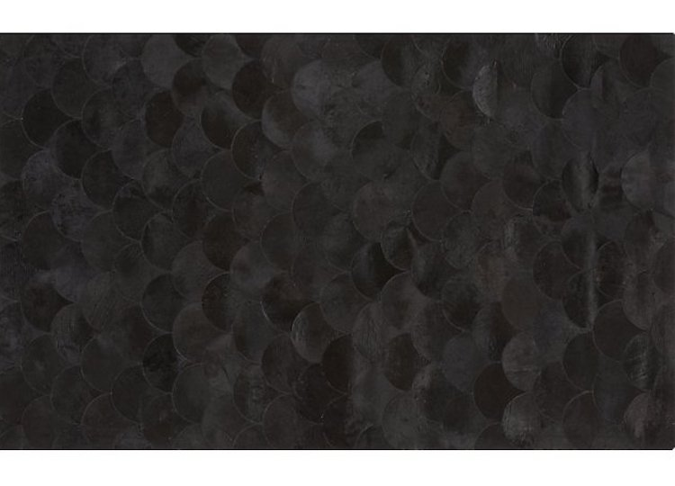 Scallop Black Hide Rug