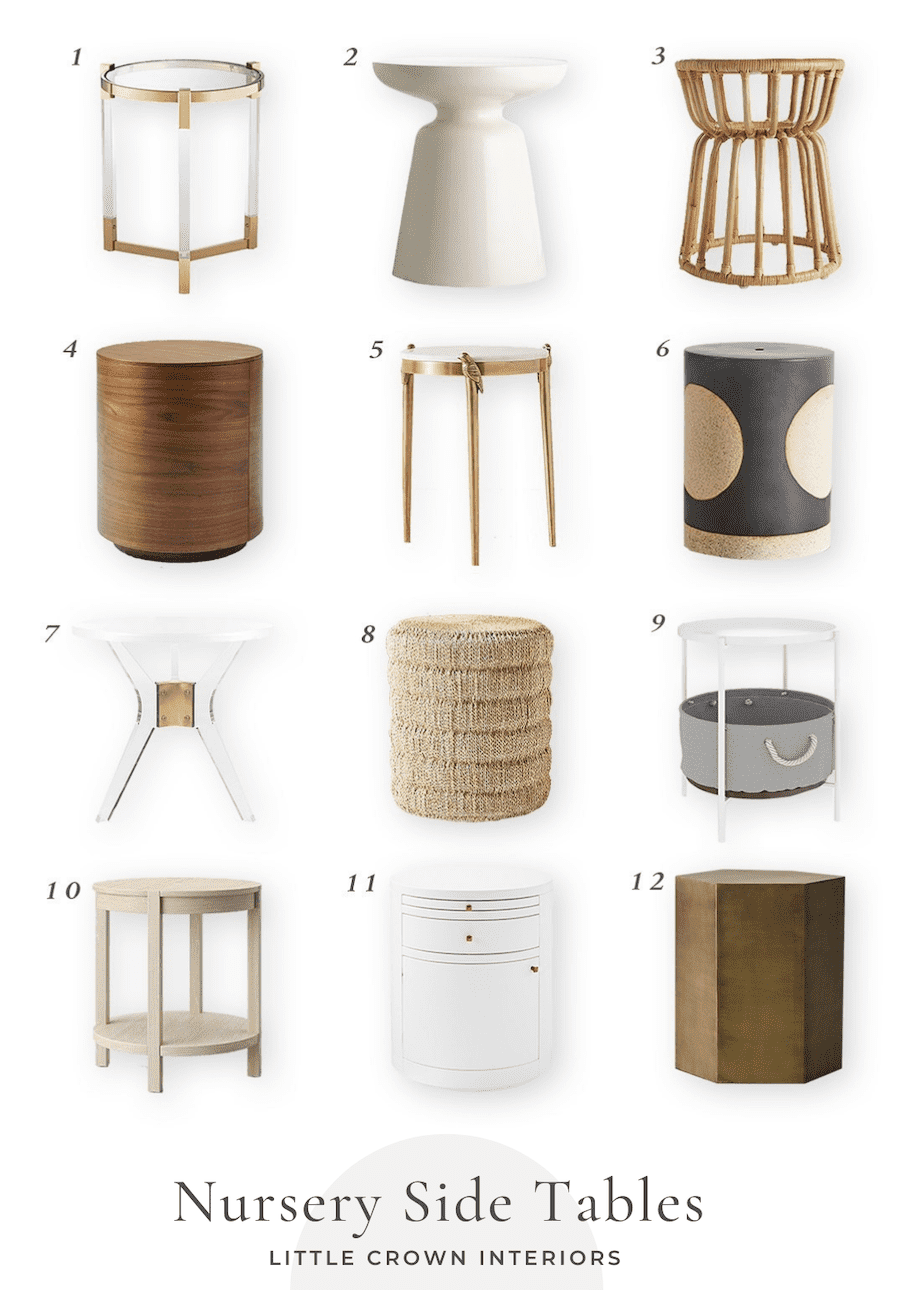 My Favorite Side Tables for the Nursery
